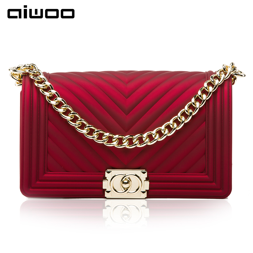 aiwoo 2017 new women shoulder bags messenger bag fashion crossbody bag with adjustable chain casual lady handbags famous brand free shipping new fashion brand women s single shoulder bag lady messenger bag litchi pattern solid color 100