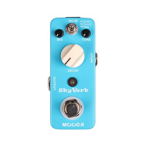 Mooer 3 Reverb Modes Skyverb High Quality Digital Electric Guitar Effect Pedal True Bypass mooer wood verb reverb digital effects acoustic guitar effect pedal tiny size true bypass mrv3