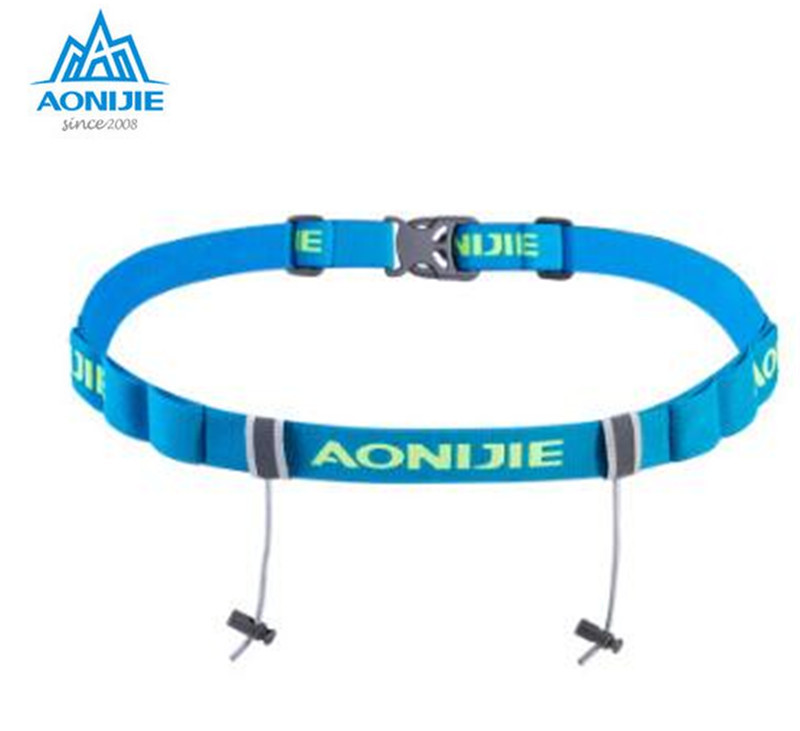 AONIJIE Man Women Unisex Triathlon Marathon Race Number Belt With Gel Holder Running Belt Cloth Belt Motor Running Outdoor