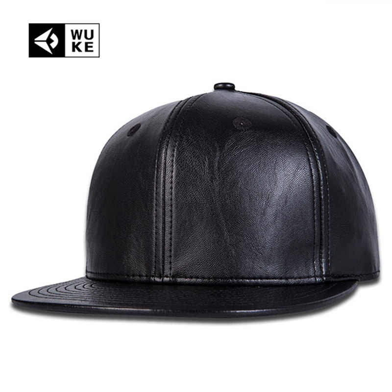6775ce31 Simple Plain Black Snapback Hats Nice Leather Baseball Caps Snapbacks  Hip-Hop Music Fashion Gorras Bone Aba Reta For Mens Womens