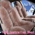 1 пара 100% Австралийский Чистая Натуральная Шерсть Сиденья для Передних Сидений