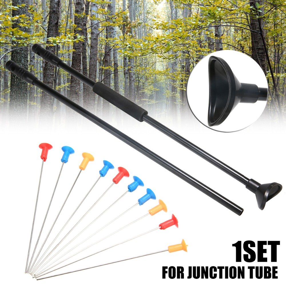 Blowgun With Junction Tube And Needles Comfort Grip Fit Hunting Darts Vital Capacity Exercise For Adult