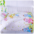 HOT sell baby bedding set 100% cotton baby cot sets quilt cover sheet pillow cover 3pcs set