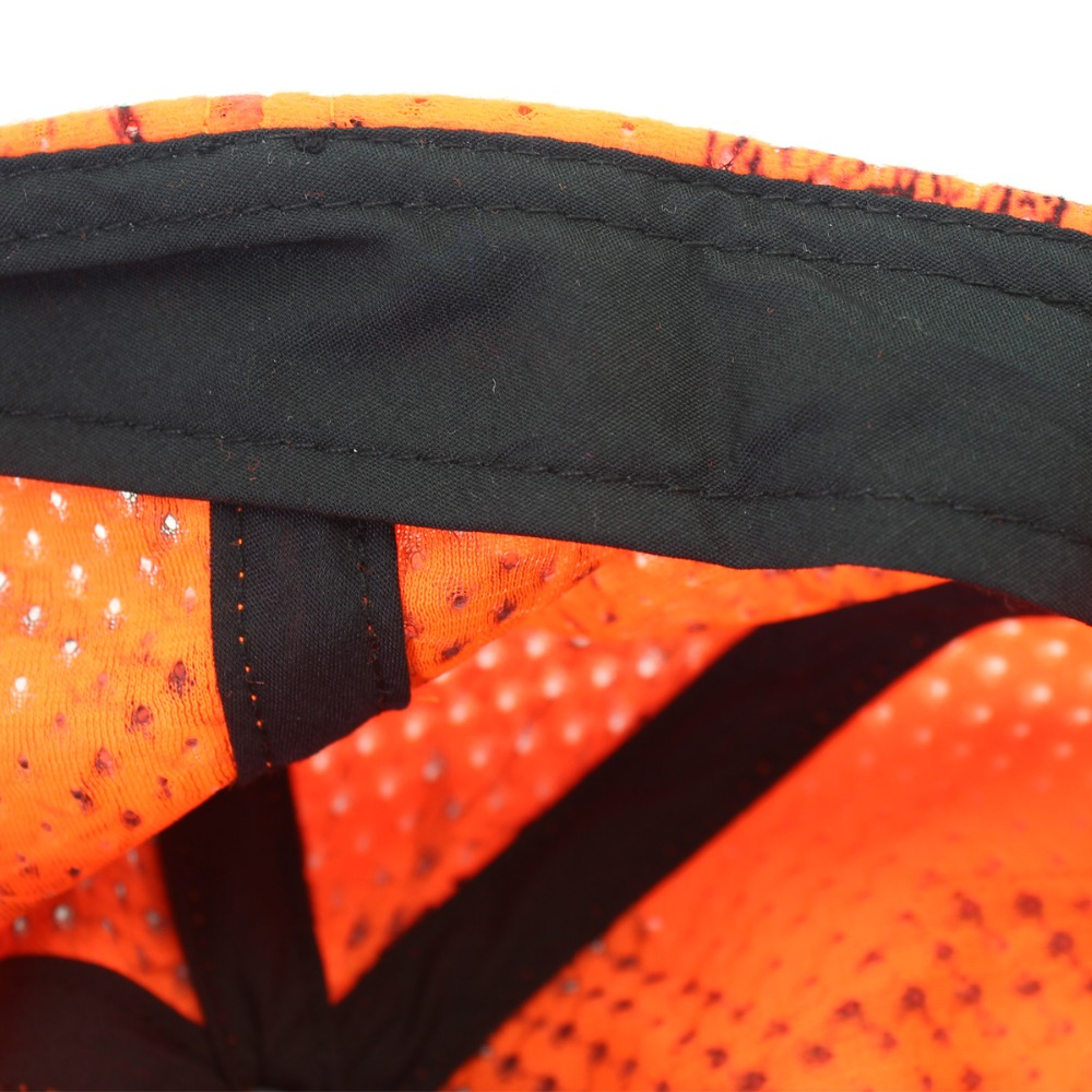 Hunting Fishing Orange Camo Cap Adjustable Camcouflage Baseball Cap (7)