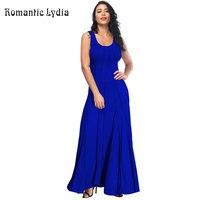 2019 Summer Long Dress Solid Sleeveless Casual Dress Tunic Maxi Dress Women Evening Party Dress Vestidos