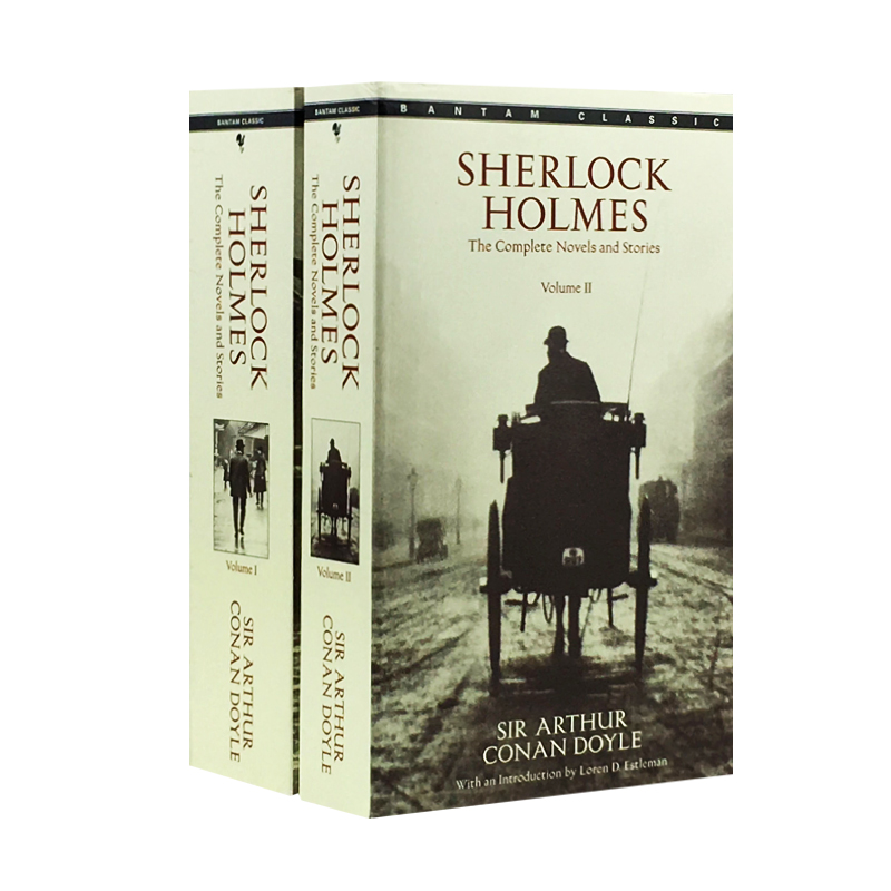 New Hot 2 book/set Sherlock Holmes English Fiction book for adult children detective Fiction худи print bar sherlock fiction