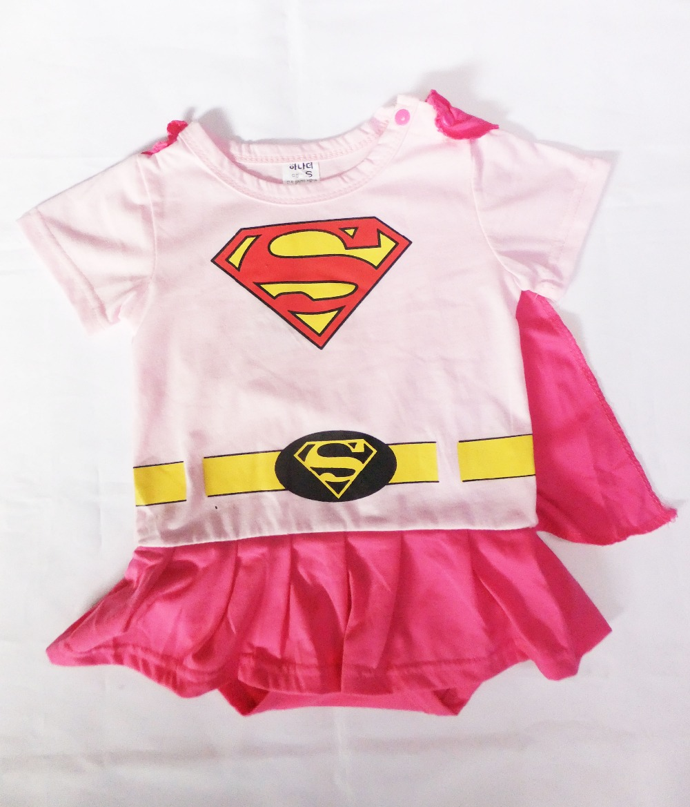 newest cotton clothing Baby crawl clothing,kid Superman's dress rompers climb&shawls, Sz S-XL