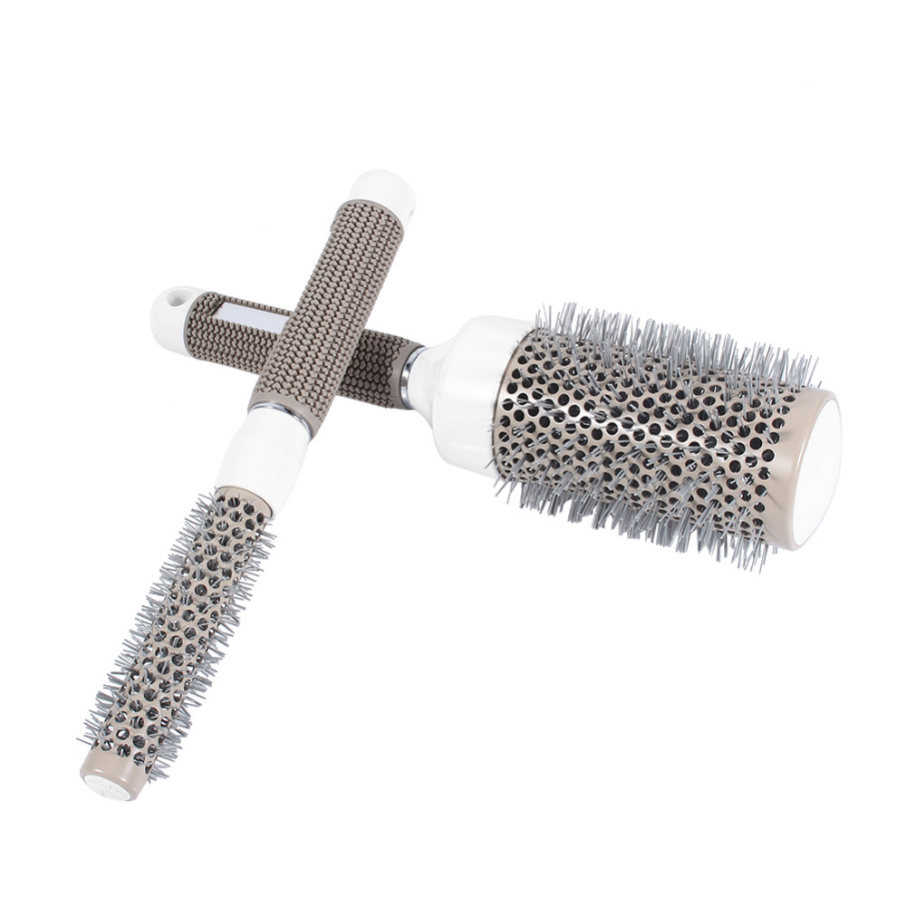 Image 4 - 5 Sizes Hair Styling Curle Comb Salon Brushes High Temperature Resistant Hair Brush Comb Hairdressing Ceramic Iron Round Comb-in Styling Accessories from Beauty & Health