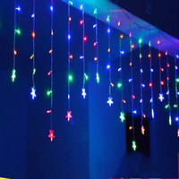 3,5 mt Drop 0,3-0,5 mt vorhang eiszapfen sterne string led-leuchten 220 V Neue jahr Weihnachten Hochzeit