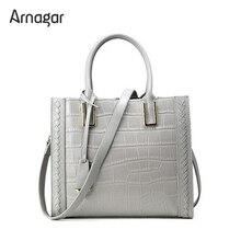 Arnagar Echte Lederne Beutel Handtaschen Frauen Luxus Designer Alligator echtledertasche damen Frauen Messenger Bags Umhängetaschen