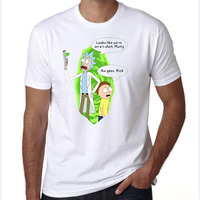 2017 Free Rick And Morty Geek T Shirt Men Women TV Tee Anime Funny T Shirt