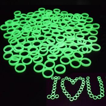 100Pcs/Set Luminous Rings Glow Light In The Dark Toy