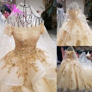 Image 2 - AIJINGYU איטלקי חתונה שמלות מלאך שמלות כלה מקלחת ארוך אירוסין גלימת נצנצים כדור סקסי אביזרי יוקרה תחרה כלה