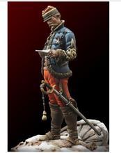 1/24 75MM צרפתית קצין 1871 שנה צעצוע שרף דגם מיניאטורי שרף דמות Unassembly לא צבוע
