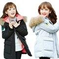 Детская мода зимние пальто для девочек пальто ребенок куртка большой меховой воротник сгущать хлопка мягкой зимняя куртка девушки и пальто