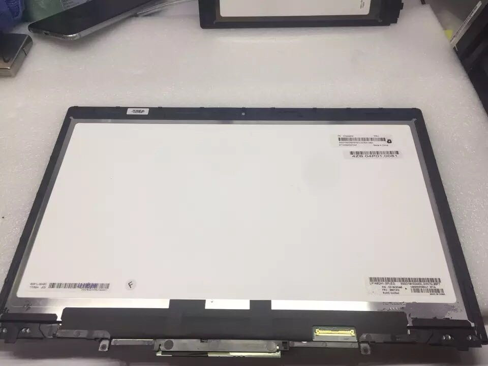 LCD Touch Screen Digitizer Assembly With Bezel For Lenovo ThinkPad X1 Yoga (1st 2nd 3rd Gen) 20FQ 20JD 20JF 20LD 20LF цена