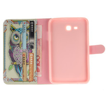 Leather sFor Samsung Galaxy Tab 3 Lite Case For Samsung Galaxy Tab 3 7.0 T110 T111 Smart Case Cover