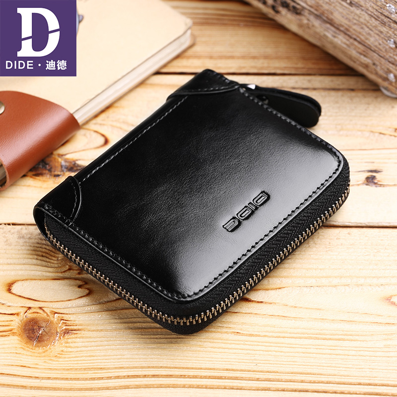 DIDE Fashion Casual Genuine Leather purse female original leather Zipper Wallets Women Purses Coin Card Holder Wallet Ladies Bag stock promotion genuine leather wallet female purse long coin purses holder ladies wallet hasp fashion womens wallets and purses