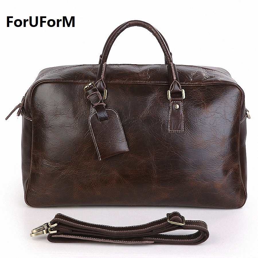 Cowhide Travel duffle Men Bags Multifunction Men 100% Genuine Leather Travel Bag Man Tote messenger Bag For Business Man LI-1513 7071lc free shiping 2015 brand genuine leather travel bag first layer of cowhide travel bags for men tote bag