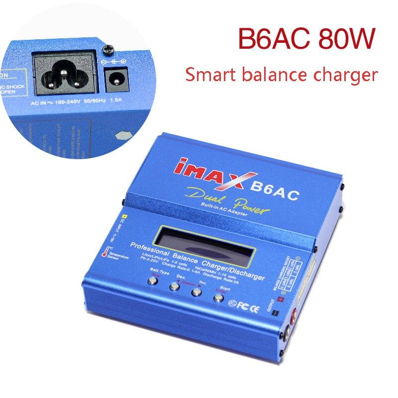 IMAX B6 AC B6AC 80 W 6A double RC 50 W 5A Balance batterie chargeur Lipo Nimh Nicd batterie avec écran LCD numérique