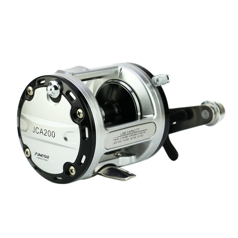 12+1BB 6.3:1 drum trolling reel 12kg Drag Power Boat Fishing Reel Baitcasting reel trolling reel 9 1bb drum wheel carp baitcasting reels centrifugal brake casting saltwater fishing reel super power drag 30kg