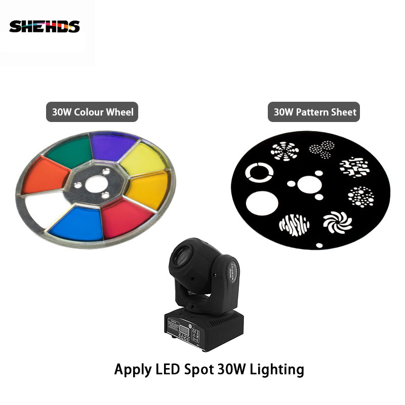 SHEHDS Mini Spot 30W LED Moving Head Lights Parts Wheel Color & Gobo Wheel Accessories SHEHDS Mini Spot 30W LED Moving Head Lights Parts Wheel Color & Gobo Wheel Accessories
