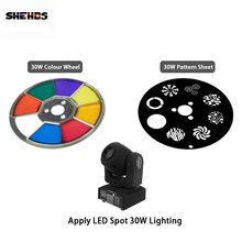 Shehds Mini Spot 30 W LED Lampu Moving Head Bagian Warna Roda & Gobo Roda Aksesoris(China)