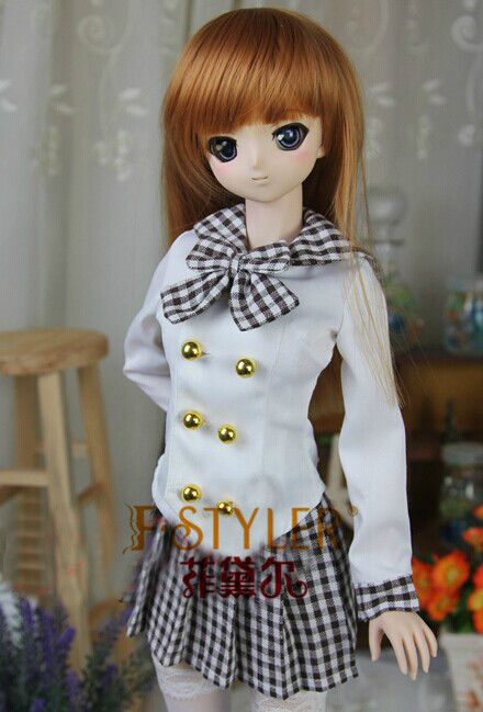 BJD doll clothes SD MSD YOSD Doll clothes Noble school uniforms Free shipping sweetie chocolate mousse european retro outfit dress suit for bjd doll 1 6 yosd doll clothes lf9