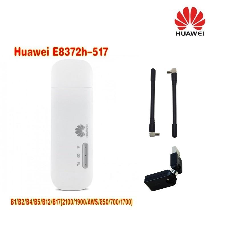 Huawei E8372h-517 LTE FDD MiFi modem stick plus 2pcs antenna and usb rotating adapter lot of 2pcs huawei e8372h 517 lte wifi stick plus 2pcs antenna