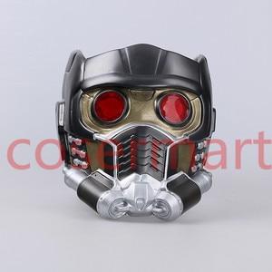 Image 3 - Cos người bảo vệ của galaxy đội mũ bảo hiểm cosplay peter quill đội mũ bảo hiểm PVC với Led Ánh Sáng Sao The Lord Of The Helmet Halloween Mặt Nạ Bên người lớn