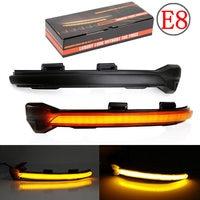 2PCS For VW Golf MK7 7.5 7 GTI R GTD Dynamic Blinker LED Turn Signal For Volkswagen Rline Sportsvan Touran Side Mirror Light