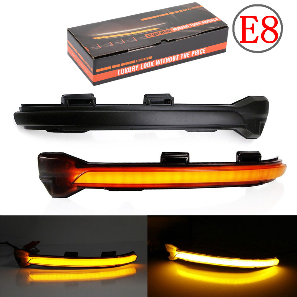2PCS For <font><b>VW</b></font> <font><b>Golf</b></font> MK7 <font><b>7</b></font>.5 <font><b>7</b></font> <font><b>GTI</b></font> R GTD Dynamic Blinker LED Turn Signal For Volkswagen Rline Sportsvan Touran Side Mirror Light image