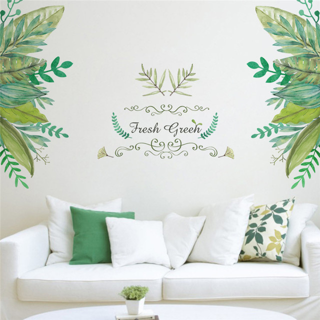 Green Leaves Wall Sticker