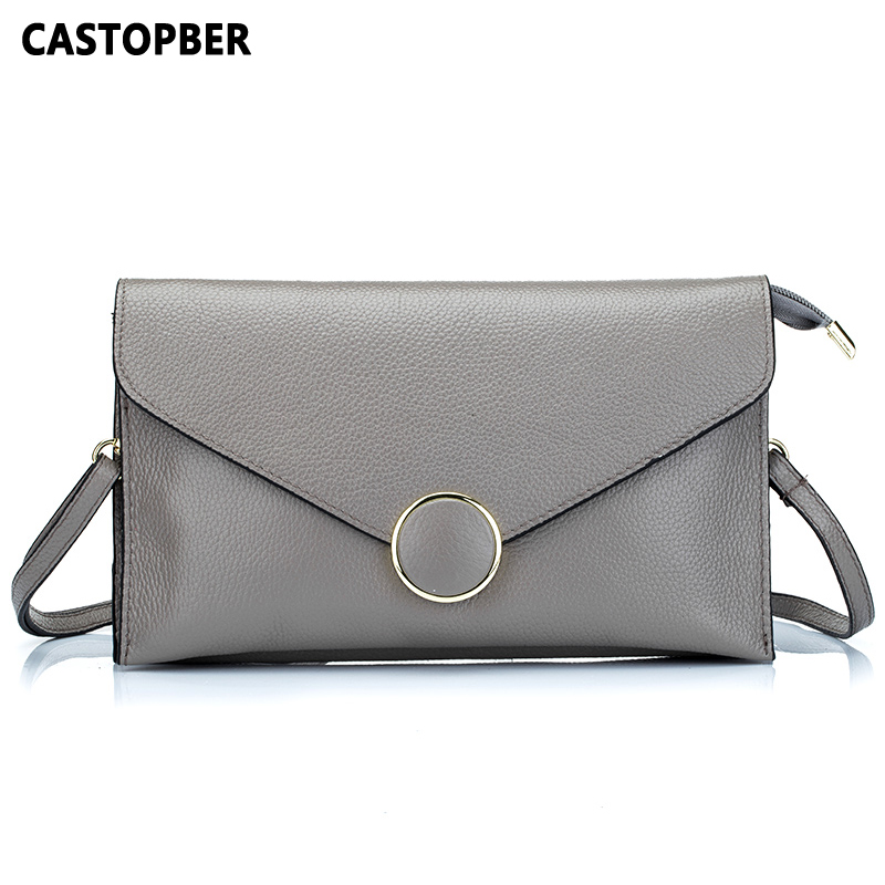 2017 New Arrival Cowhide Genuine Leather Women Fashion Envelope Bag Shoulder Handbag Crossbody Messenger Lady Bags Purses Clutch qiaoqiao розовая с баскетбольным кольцом микки