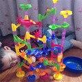 105 pcs diy tipo gasoduto mármore corrida corrida bolas labirinto pista Puzzles Labirinto de Aprendizagem Educação Brinquedos Miúdo QI Instrutor Jogo Para crianças