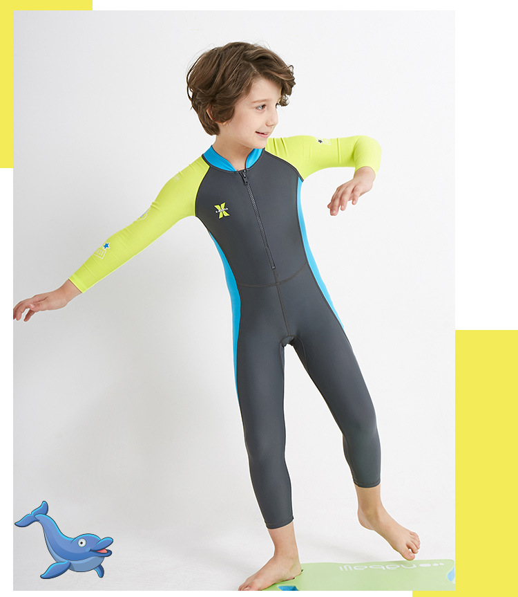 UPF 50+ Spring summer Kids Wetsuit Lycra Wet Suits Full Body One-piece Back  Zip Long Sleeve Swimwear Swimsuit Pink boy Girls 354 3bdebc4c2