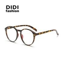 DIDI Round Vingate Glasses Women Men Zero Power Lens Multi Gafas Plastic Frame Plastic Lens Oculos