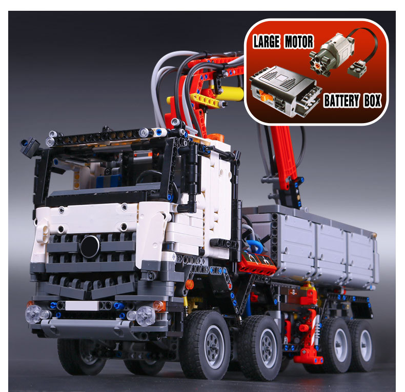 LEPIN 20005 3245pcs NEW technic series 42023 Arocs Model Building Block Bricks Compatible with Boys Toy Educational Gift 05007 2793pcs technic remote controlled arocs truck 20005 building kit 3d model blocks minifigures toys bricks compatible with lego