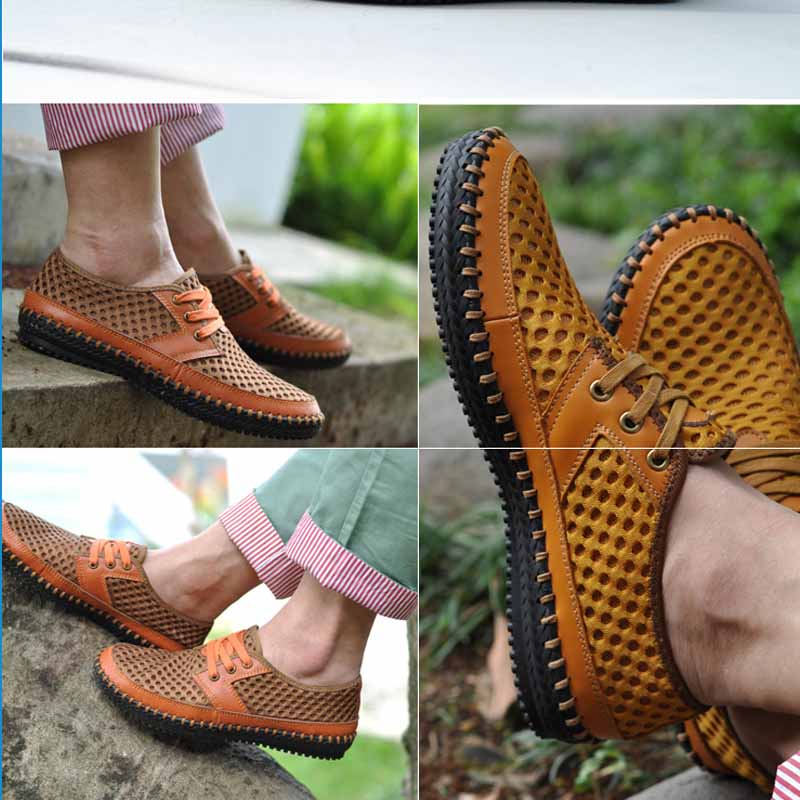 YIQITAZER 2017 Summer Cool Breathable New Hollow out Breathable Mesh Fashion Man Shoes Shoes men male Casual shoe