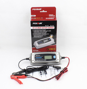 Image 5 - FOXSUR 12 V 4A 6 V 1A 11 stage סוללה חכמה, צעצוע & רכב מטען סוללות AGM GEL רטוב EFB, LCD מטען סוללות חכם