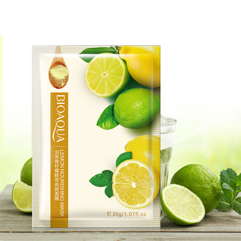 BIOAQUA Face Mask lemon cleansing pore facial mask