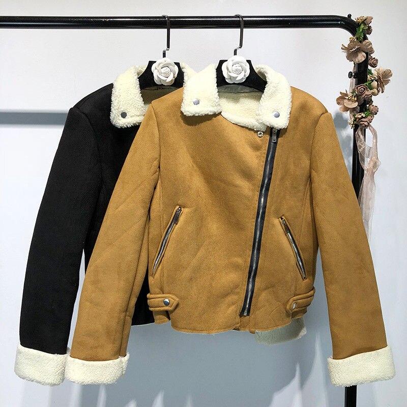 Hiver Noir Manteau Streetwear Agneaux 2018 975 Parkas D'hiver Mode Laine Casual Y Automne Femmes kaki Outwear Cx6w6gqt5A