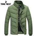TANGNEST 2017 New Arrival Winter Jacket Men Solid Color High Quality Coat Men Casual Comfortable Warm Parka Men MWM1393