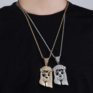 Image 3 - TOPGRILLZ nouveau pendentif de corail jésus, bijoux hip hop, collier de pierres CZ à la mode, lien en Zircon cubique, cadeau pour hommes et femmes