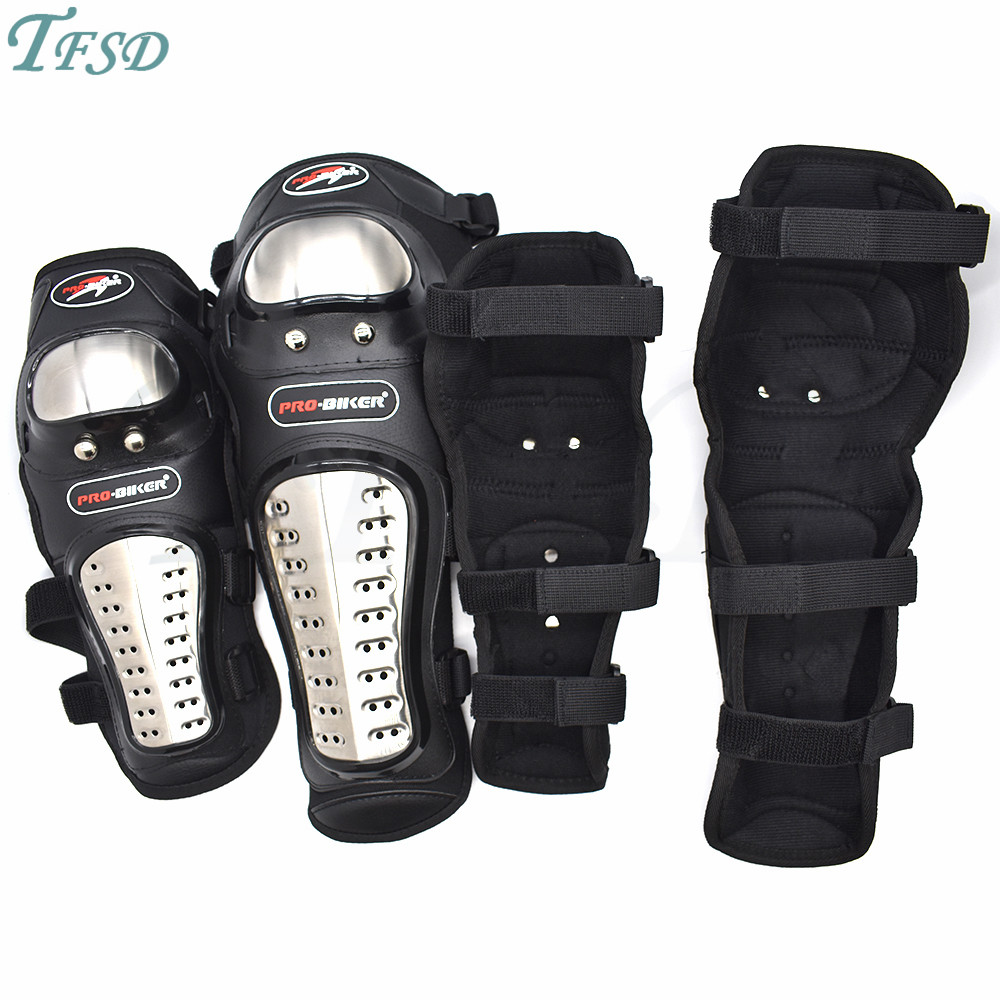 Genouillères Moto Protection anti-chute jambe genou équipement de Protection adulte Sport Moto Skate ski genouillère noir