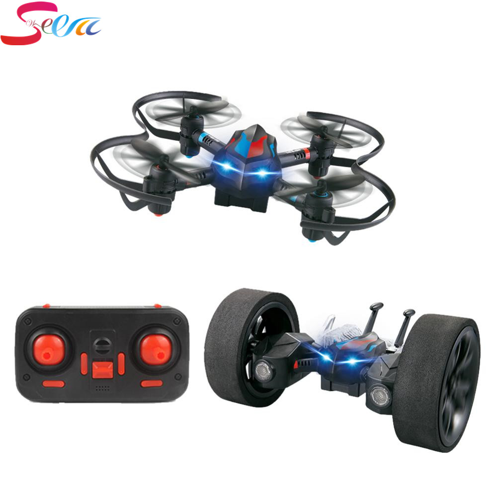 ФОТО LiDiRc L18 2.4GHz 4CH Wireless RC Gyro Drones Quadrotor DIY Deformable Stunt Car Toy with Remote Controller up to 50m