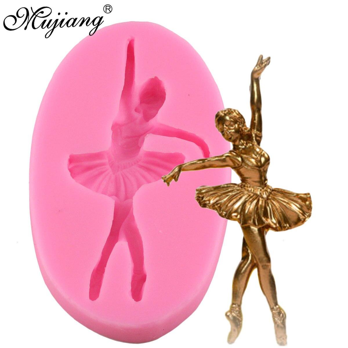 Mujiang 3D балетная девочка силиконовая форма для кексов Топпер искусственная выпечка кексов Конфеты инструменты для украшения тортов из масти...