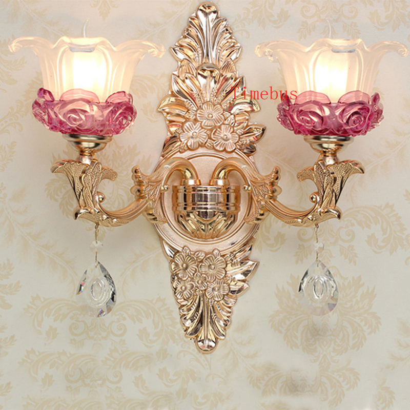 Bathroom Wall Lamp Gold led Crystal Wall Sconce Rose Gold Wall Lamp Bedroom led Mirror Light Hotel Iron Wall Lamps Bedside Lamp led k9 crystal wall sconce lamp led wall light bedroom living room bedside lamp hotel sconce led mirror light bathroom lamps