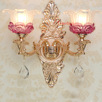Bathroom Wall Lamp Gold led Crystal Wall Sconce Rose Gold Wall Lamp Bedroom led Mirror Light Hotel Iron Wall Lamps Bedside Lamp