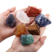 Conjunto cristais 7 chakras em formato natural